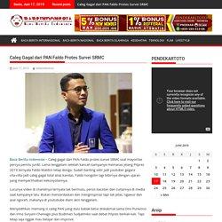 Caleg Gagal dari PAN Faldo Protes Survei SRMC - BABEINDONESIA