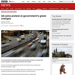 AA joins protest at government's green changes - BBC News