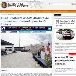 CHILE: Protesta impide atraque de crucero en remozado puerto de Iquique