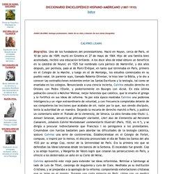 JUAN CALVINO, teólogo protestante -biografía- Diccionario Enciclopédico H-A