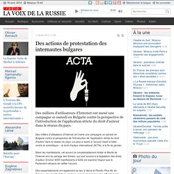 Des actions de protestation des internautes bulgares