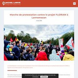 11 oct. 2020 Marche de protestation contre le projet FLORIAN à Lannemezan - Michel Larive