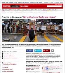 Occupy-Proteste in Hongkong: Interview mit Wortführer Benny Tai