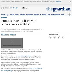 Protester sues police over surveillance database