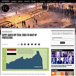 Egypt Shuts Off Tech, Tries to Shut Up Protesters