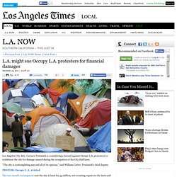 L.A. might sue Occupy L.A. protesters for financial damages