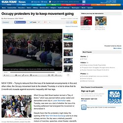 Occupy protesters try to keep movement going