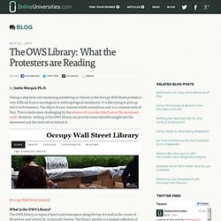 The OWS Library: What the Protesters are Reading