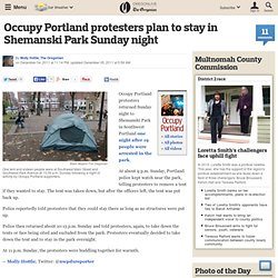 Occupy Portland protesters plan to stay in Shemanski Park Sunday night
