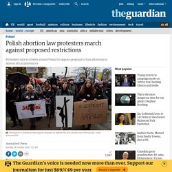 Polish abortion law protesters march against proposed restrictions