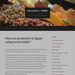 How are protestors in Egypt using social media?