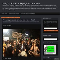 Sobre os protestos contemporâneos no Brasil