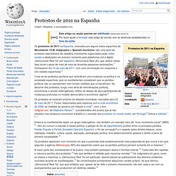 Protestos de 2011 na Espanha