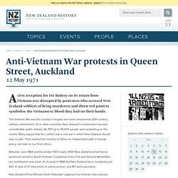Anti-Vietnam War protests in Queen Street, Auckland
