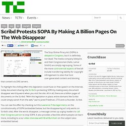 Scribd Protests SOPA By Making A Billion Pages On The Web Disappear