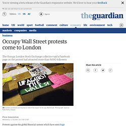 Occupy Wall Street protests come to London