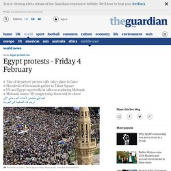 Egypt protests – day of departure live updates