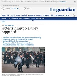 Protests in Egypt - live updates