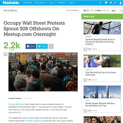 OWS Protests Sprout 928 Offshoots On Meetup.com Overnight