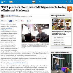 SOPA protests: Southwest Michigan reacts to day of Internet blackouts