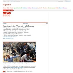 Egypt protests - live updates | News