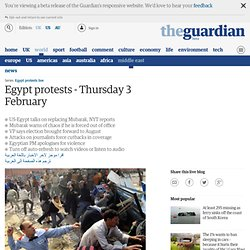 Egypt protests - live updates