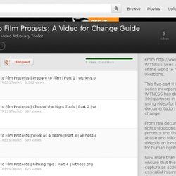 How to Film Protests: A Video for Change Guide