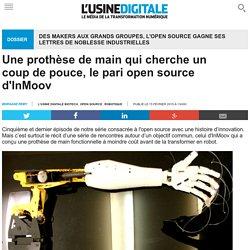 Une prothèse de main qui cherche un coup de pouce, le pari open source d'InMoov