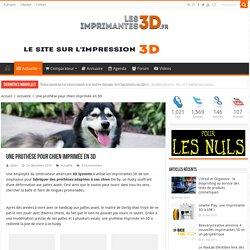 Une prothèse pour chien imprimée en 3D avec 3D Systems