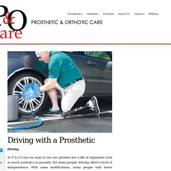 Driving with a Prothetic