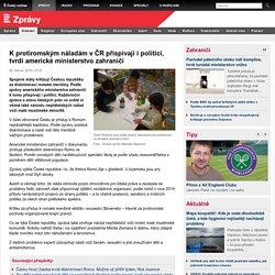 K protiromským náladám v ČR přispívají i politici, tvrdí americké ministerstvo zahraničí