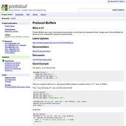 protobuf - Protocol Buffers - Google's data interchange format