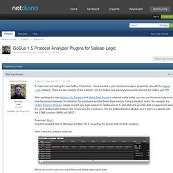 GoBus 1.5 Protocol Analyzer Plugins for Saleae Logic - Netduino Go - Netduino Forums