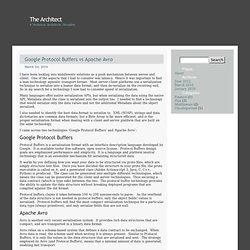 Google Protocol Buffers vs Apache Avro