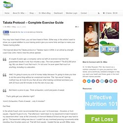Tabata Protocol – Complete Exercise Guide - Tabata Workouts Examples | Blog