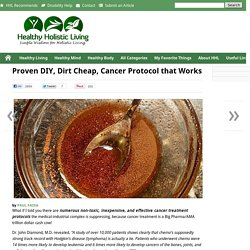 Proven DIY, Dirt Cheap, Cancer Protocol that Works