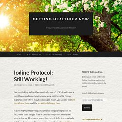 Iodine Protocol: Still Working! | Getting Healthier Now