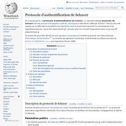 Protocole d'authentification de Schnorr