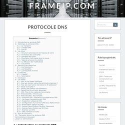 Protocole DNS - FRAMEIP.COM