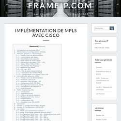 Protocole Mpls via Cisco