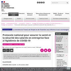 Protocole national et questions réponses - santé et sécurité salariés