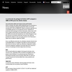 HELIOS - Le protocole de partage de fichiers AFP comparé à SMB et NFS pour les clients réseau