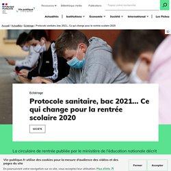 Rentrée scolaire 2020 : protocole sanitaire, décrochage, bac 2021