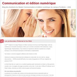 Les protocoles d'Internet et du Web – Communication et édition numérique