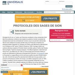 PROTOCOLES DES SAGES DE SION