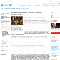 Protocoles facultatifs à la Convention relative aux droits de l'enfant