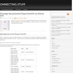 Décodage des protocoles Oregon Scientific sur Arduino (2/3)