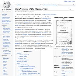 The Protocols of the Elders of Zion