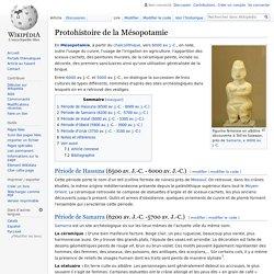 Protohistoire de la Mésopotamie