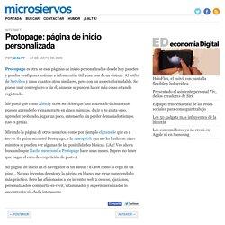 Protopage: página de inicio personalizada